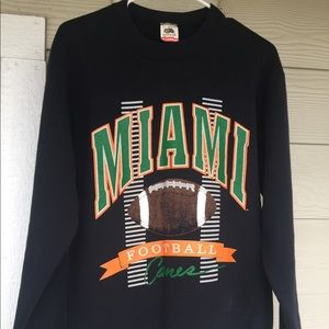 Vintage Miami Canes football pullover sweater